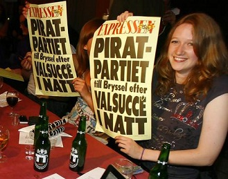 Swedish Pirate Party Wins 2 Seats in EU Parliament