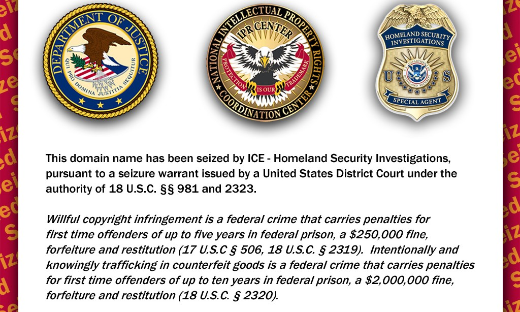 ICE Seizes More Domain Names – TVShack for 2nd Time