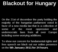 "Pirate Bay Takes Part in ""Blackout for Hungary"""