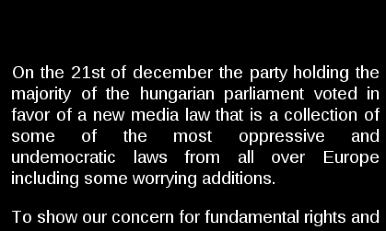 """Pirate Bay Takes Part in """"Blackout for Hungary"""""""