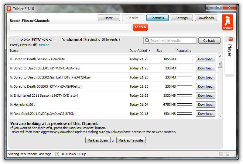 Tribler: BitTorrent Client that Doesn't Need Tracker Sites