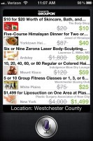 siriSearchGroupon: Use Siri to Search Groupon Deals with iPhone, iPad